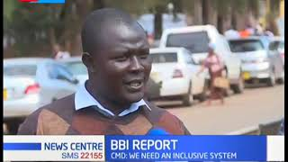 Decry as youths feel excluded in the BBI report released by President Uhuru and Raila Odinga