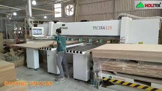 MÁY CẮT VÁN CÔNG NGHIỆP. MÁY CƯA PANEL SAW CNC TECTRA-328 Holztek Opticut Opti Rulo ép cạnh
