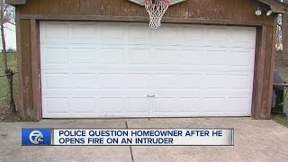 Homeowner questioned by police following shooting of intruder