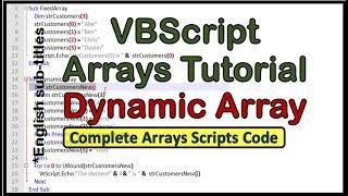 VBScript Array - tutorial 7