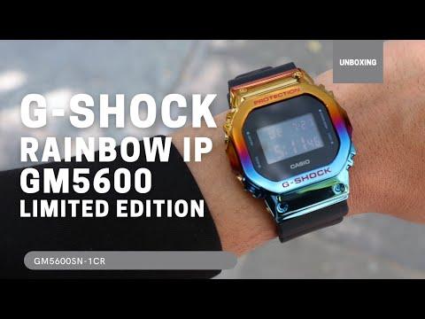 Casio G-Shock 5600 Series Rainbow IP Watch GM5600SN-1