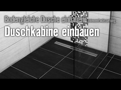 Version 2015 Bodengleiche Dusche einbauen: Linienentwässerung - Kapitel 4 | HORNBACH Meisterschmiede