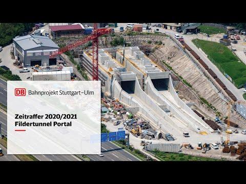 Anschluss Fildertunnel an die Neubaustrecke – Zeitrafferfilm 2020/2021