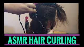 ASMR Very Relaxing Hair Play/hair Curling - Spray (no Talking)