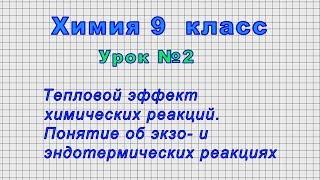 Химия 9 класс Урок 2 - Тепловой эффект химических реакций.