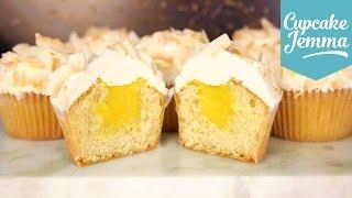 Mango Filled Coconut Cupcake Recipe | Cupcake Jemma