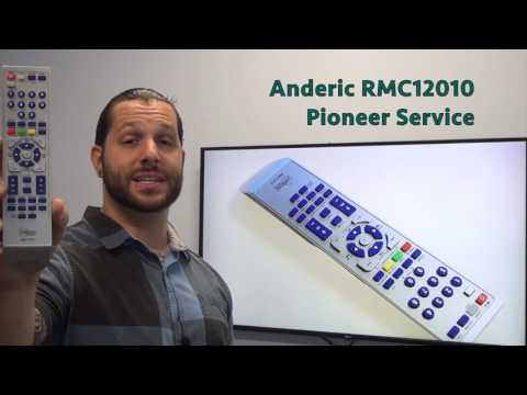 ANDERIC RMC12010 for Pioneer Service DVD Player Remote Control
