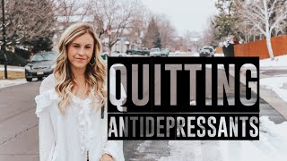 My experience quitting antidepressants/anti anxiety meds