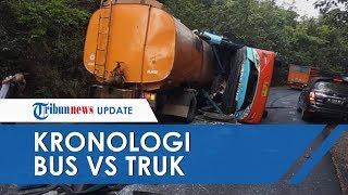 Kronologi Tabrakan Maut Truk Vs Bus Rosalia Indah di Lampung, Badan Truk Merangsek ke Dalam Bus