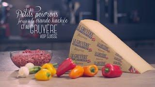 Petits poivrons farcis au Gruyère AOP suisse et à la viande hachée Video