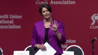 "Gigi Hyland ""Ceiling Unlimited"" at the 2017 CUNA GAC"