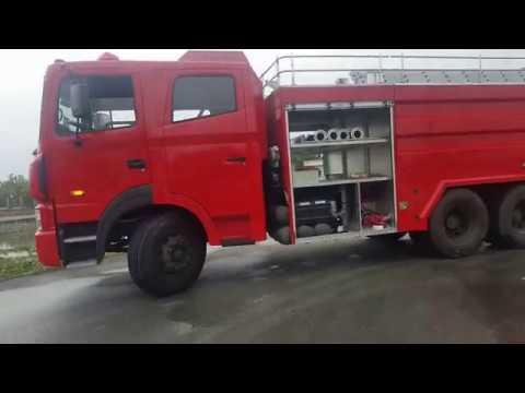 Xe chữa cháy hyundai HD260 11 khối 3 chân 9 khối nước 2 khối bọt