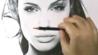 Retrato passando propores pro papel desenho de observao como desenhar um retrato angelina jolie fandeluxe Images