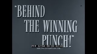 BEHIND THE WINNING PUNCH  1944 WWII WAR PRODUCTION BOARD  SCRAP METAL RECYCLING  32164