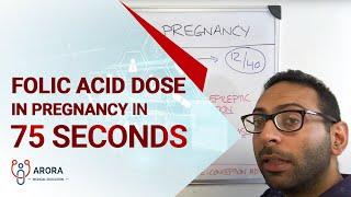 Folic Acid dose in Pregnancy in 75 seconds