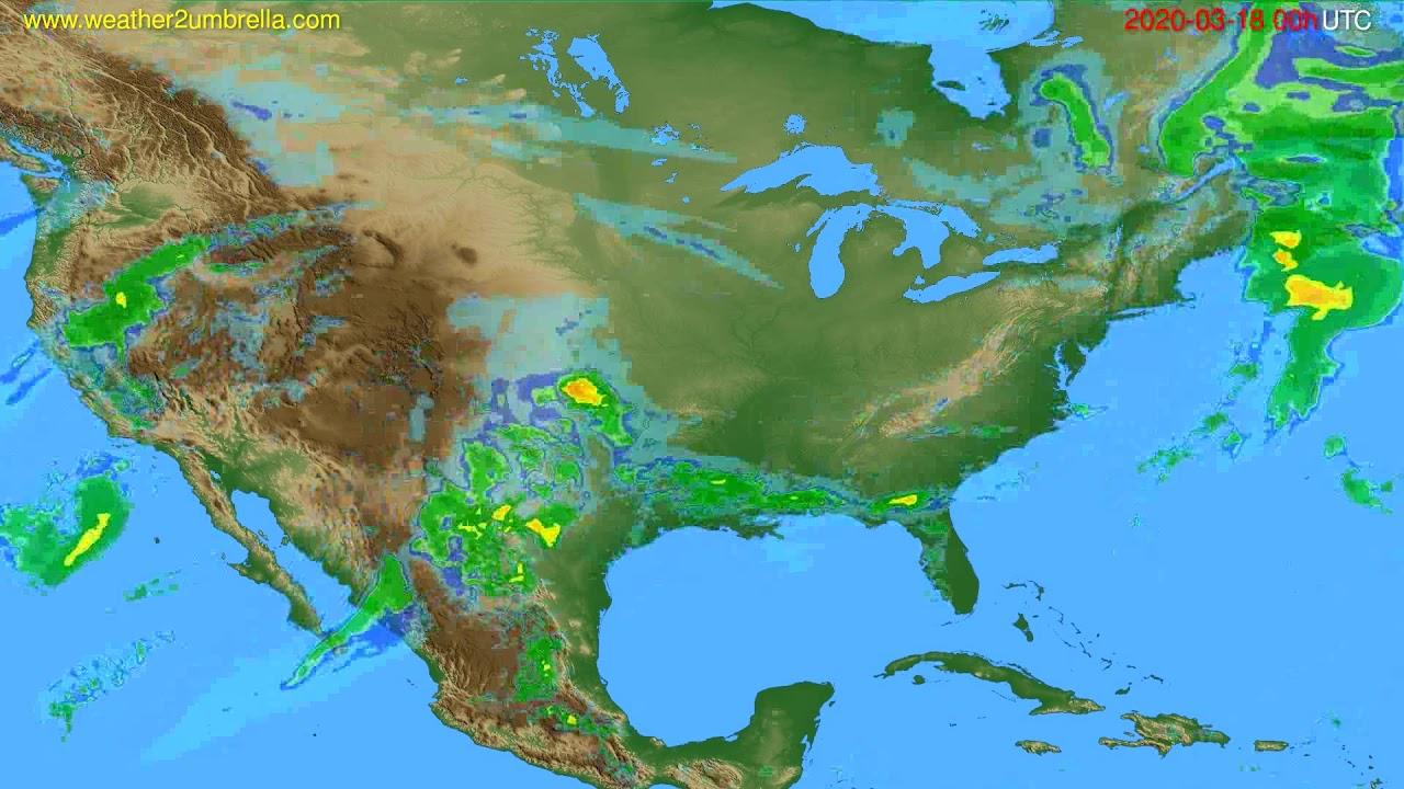 Radar forecast USA & Canada // modelrun: 12h UTC 2020-03-17