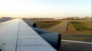 preview picture of video 'Iran Air Boeing 747-100 Take Off from Tehran, Iran - Window View'