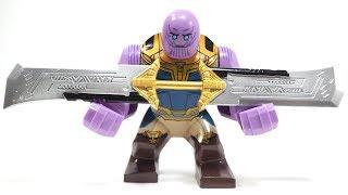 Lego Superhero Avenger Infinity War Thanos Endgame Weapon Unofficial Lego Big Figure