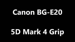 Canon 5D Mark IV Battery Grip BG-E20 Unboxing
