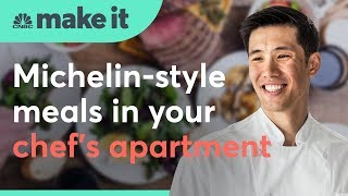 This chef makes a living cooking dinner out of his apartment | CNBC Make It