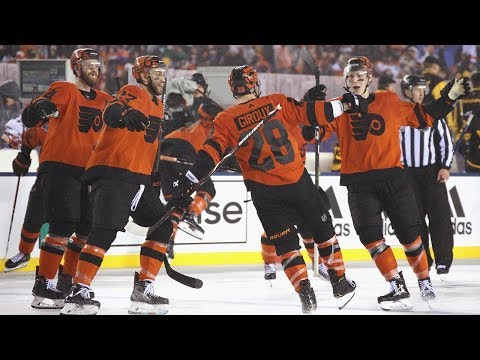 7cdc3004a Flyers rally back for dramatic OT win against Penguins in Stadium Series