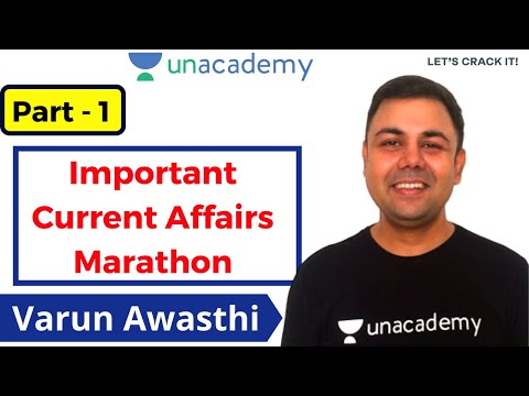 Important Current Affairs Marathon For Upcoming SSC Exams Class | Unacademy | Varun Awasthi