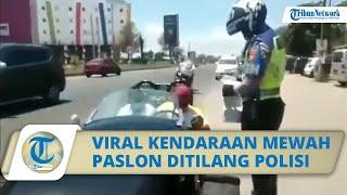 Viral Video Kendaraan Mewah Paslon Cellica - Aep Ditilang Polisi di Jalan Karawang