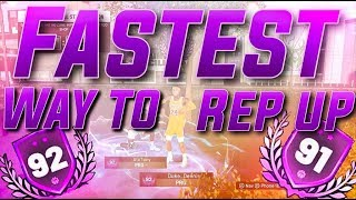 HOW TO REP UP FAST NBA 2K19! HIT 90 OVERALL IN ONE DAY! EASY MYCAREER AND MYPARK REP METHOD