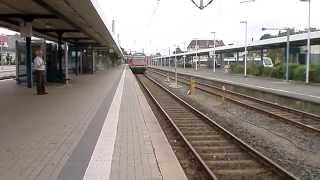 preview picture of video 'Ein Zug fährt in den Bahnhof Hildesheim ein'