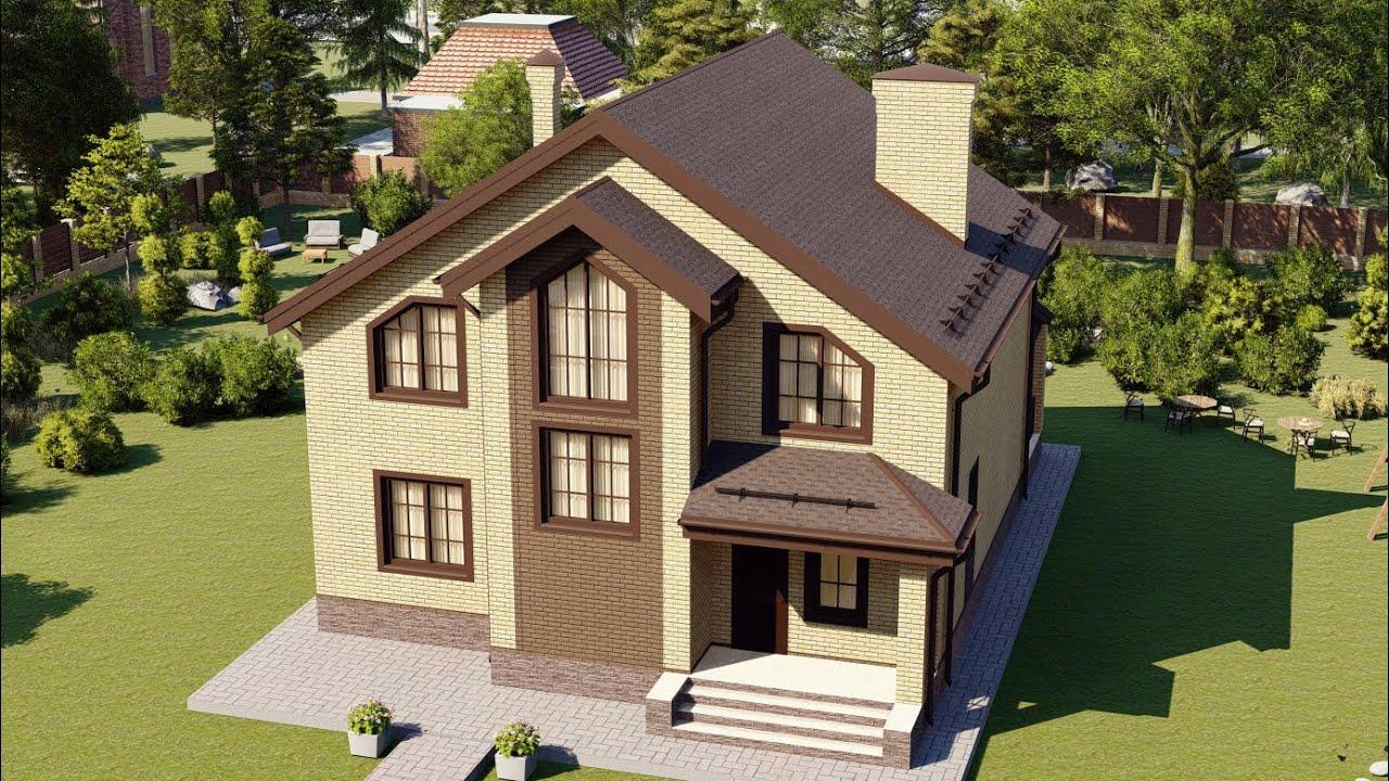 Двухэтажный газобетонный дом 147 м2