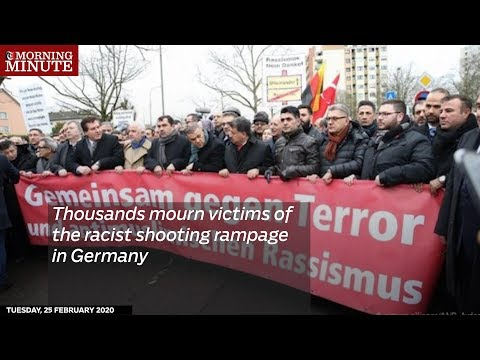 Thousands mourn victims of the racist shooting rampage in Germany