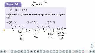 Eğitim Vadisi AYT Matematik 4.Föy Denklem Sistemleri 2 Konu Anlatım Videoları