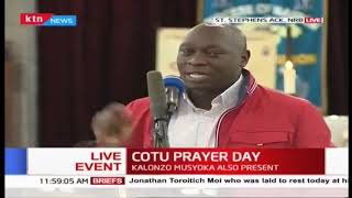 Joshua Kutuny defends workers at the COTU prayer day