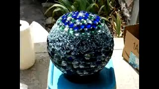 Garden Ball Creation From Bowling Ball Arts And Craft Time-lapse DIY