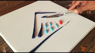 Colorful Acrylic Abstract Painting Demonstration / Easy & Relaxing / Project 365 days / Day #0302
