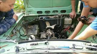 Moskvich 412 Stuck Engine Repair (time lapse)