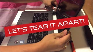 HP Notebook 14 inch Teardown, RAM upgrade and HDD location
