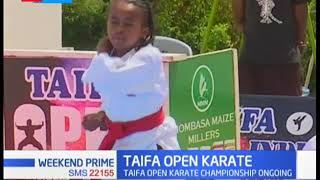 Three children bag gold medals in ongoing Taifa open Karate in Mombasa