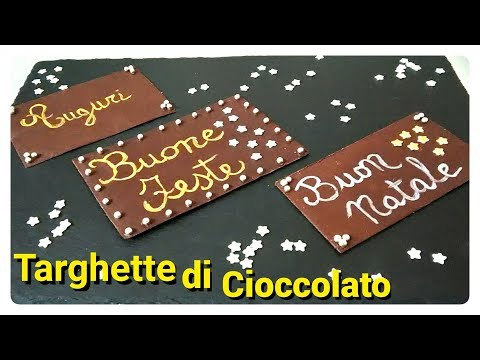 Targhette di cioccolato per torte di compleanno