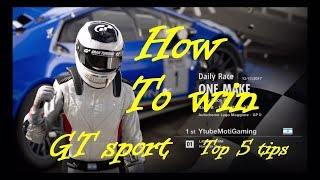 Gran Turismo sport Tips and Tricks How to win races in GT Sport Top 5 Tips to be fast and win