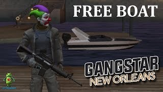 GANGSTAR NEW ORLEANS - How to get free BOAT