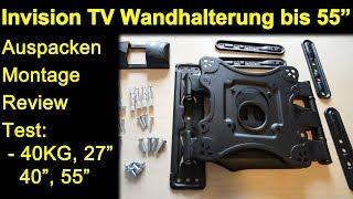 Invision Wandhalterung Bis 55 Zoll HDTV E   Auspacken Montage Test 40 KG, 27