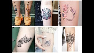 50+ Beautifully Cat Tattoo Design For Womens
