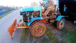 Самодельный мини трактор!!