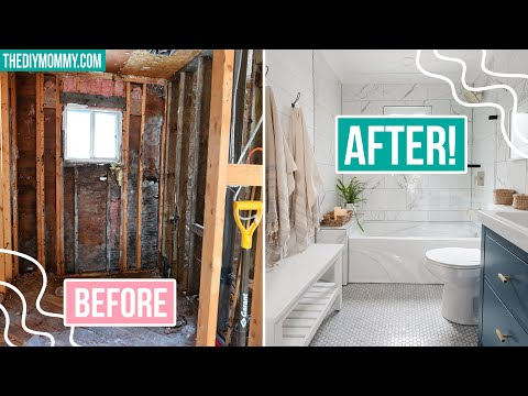 DIY SMALL BATHROOM RENOVATION with EXTREME before & after!