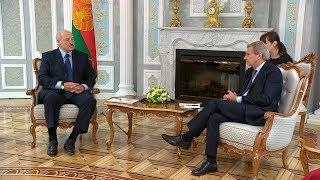 Во Дворце Независимости прошли переговоры Лукашенко с еврокомиссаром Ханом