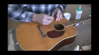 006 RSW Kay Guitar Top Crack Repair Part 1