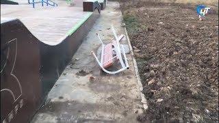 Скейт-площадка в парке Юности пострадала от рук вандалов