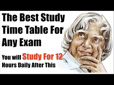 The Best Time Table For Studies | You will Study At least for 12 Hours In a Day