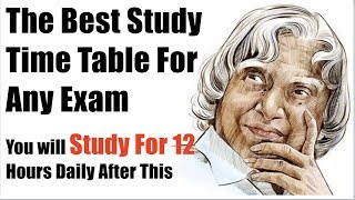 The Best Time Table For Studies   You will Study At least for